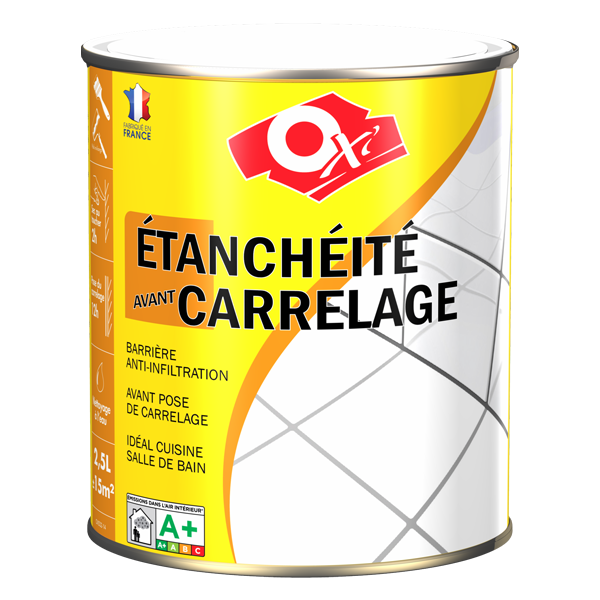Oxi tanch it carrelage sous couche tanch it avant for Etancheite terrasse avant pose carrelage